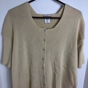 Coldwater Creek Short Sleeve Cardigan